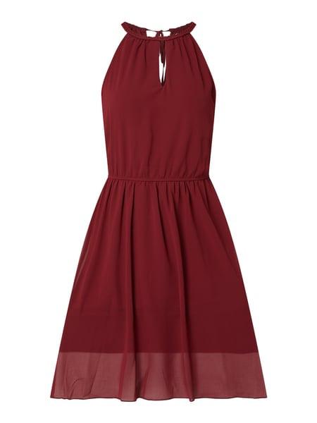 Apricot Kleid Aus Krepp Mit Cut Out In Rot Online Kaufen