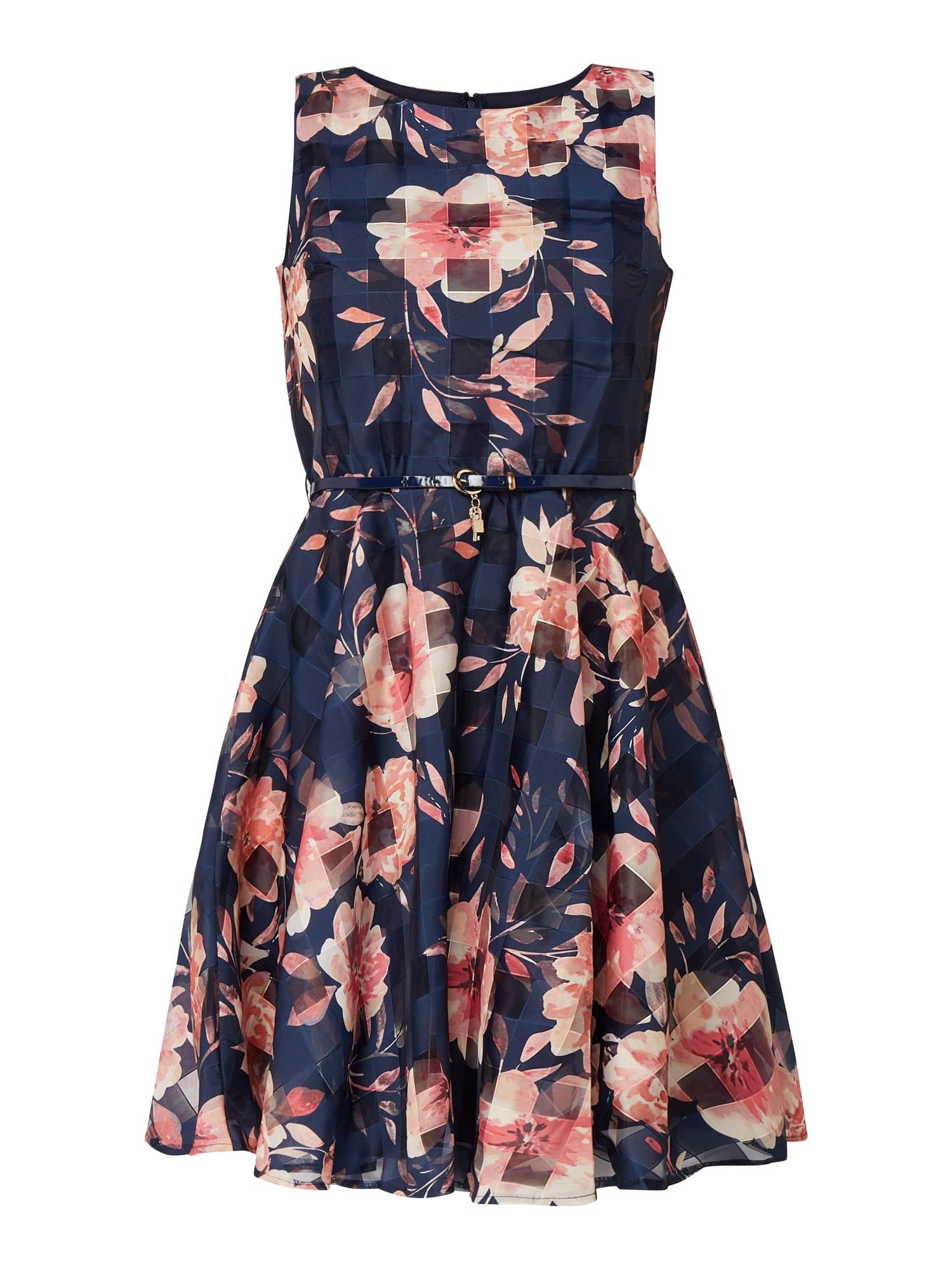 Apricot Kleid Aus Taft Und Organza In Blau / Türkis Online