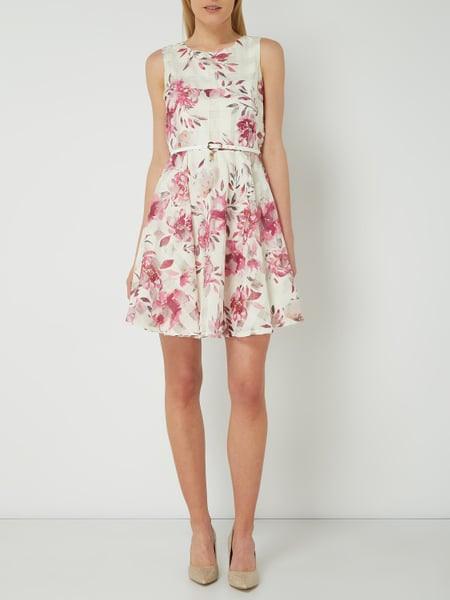 Apricot Kleid Aus Taft Und Organza In Weiß Online Kaufen