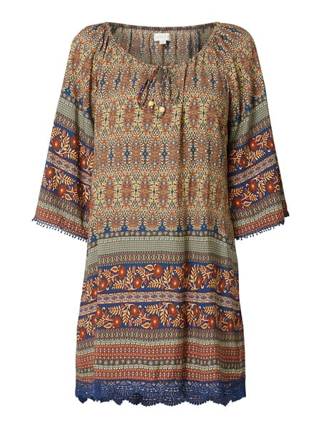 Apricot Kleid Aus Viskose Im Off Shoulder Look In Blau
