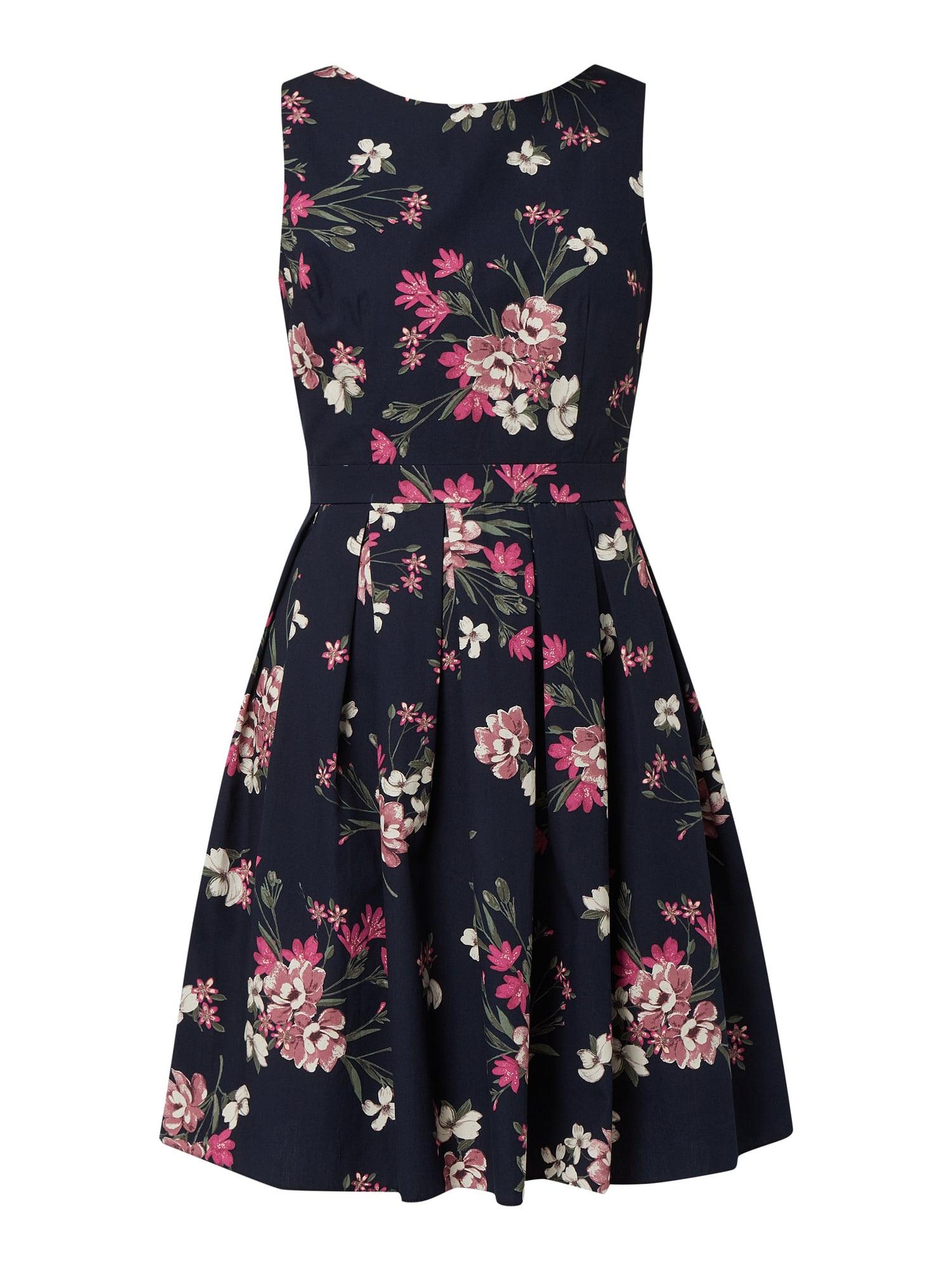 Apricot Kleid Mit Floralem Muster In Lila Online Kaufen