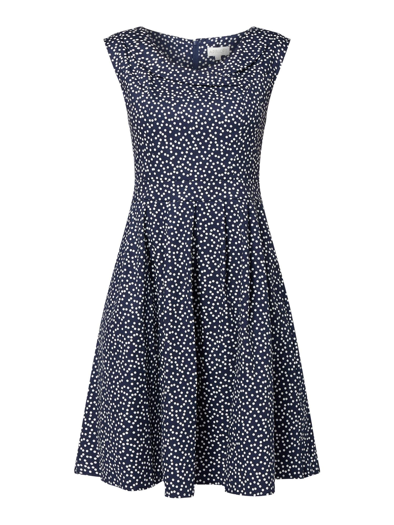 Apricot Kleid Mit Umgelegtem Kragen In Blau / Türkis