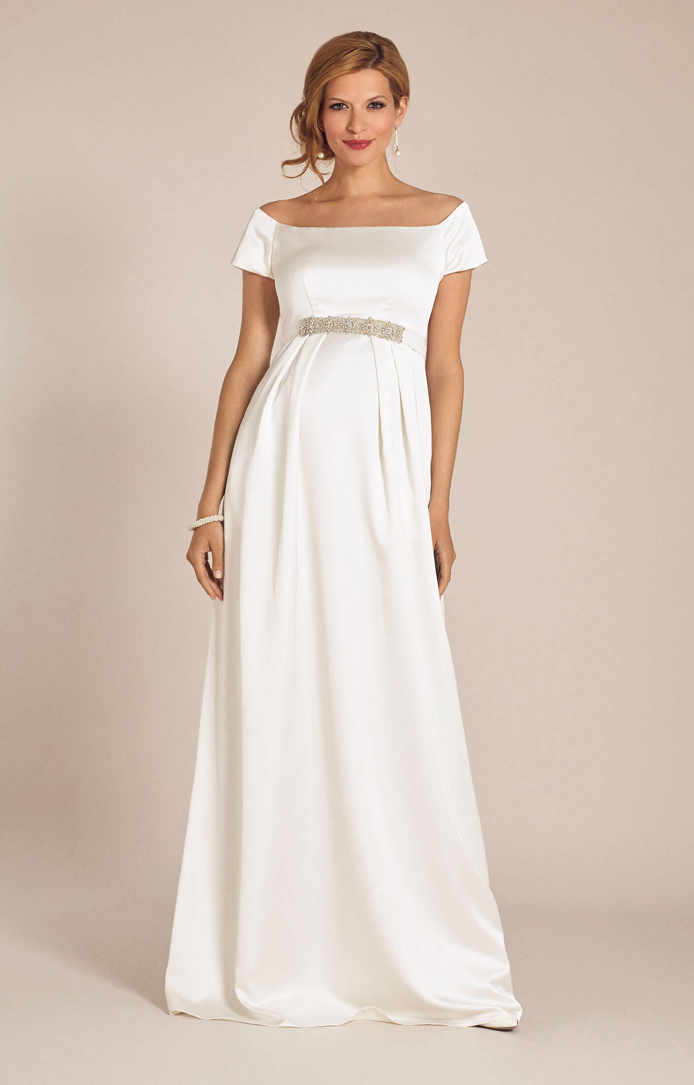 Aria Maternity Wedding Gown Ivory  Maternity Wedding