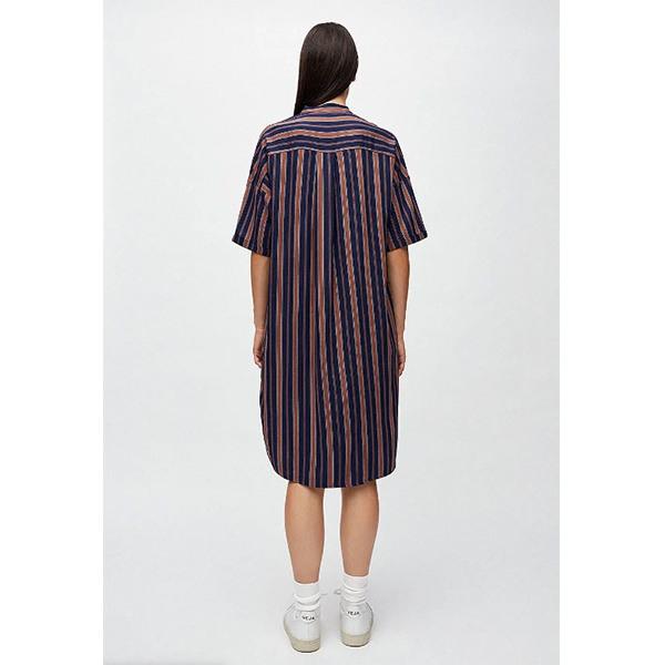 """Armedangels Kleid """"Maarjuli Multicol Stripes"""" Evening Blue"""