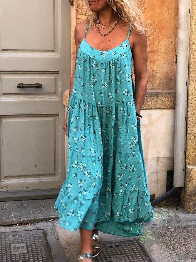 Ärmellose Lässige Kleider Baumwolle  Modetalente