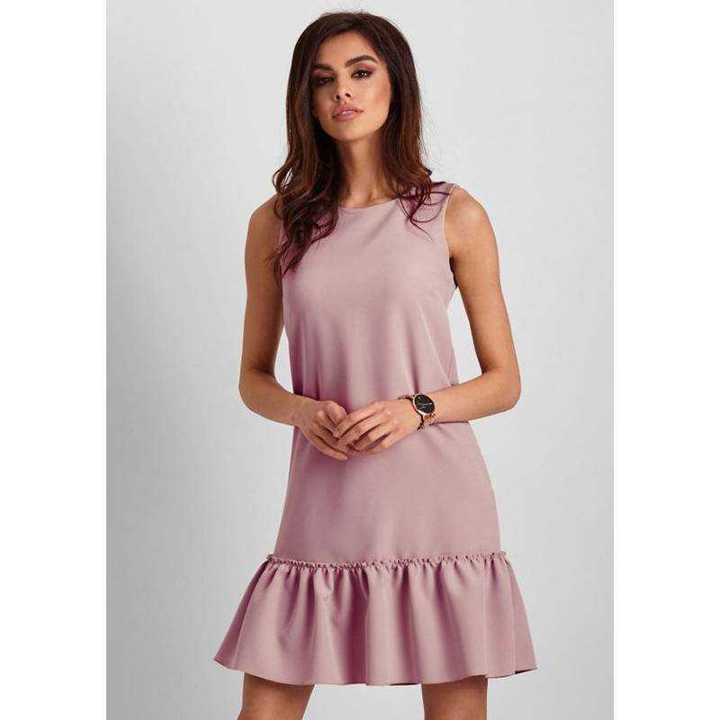 Ärmelloses Elegantes Kleid In Rosé  Modeshop Elegando