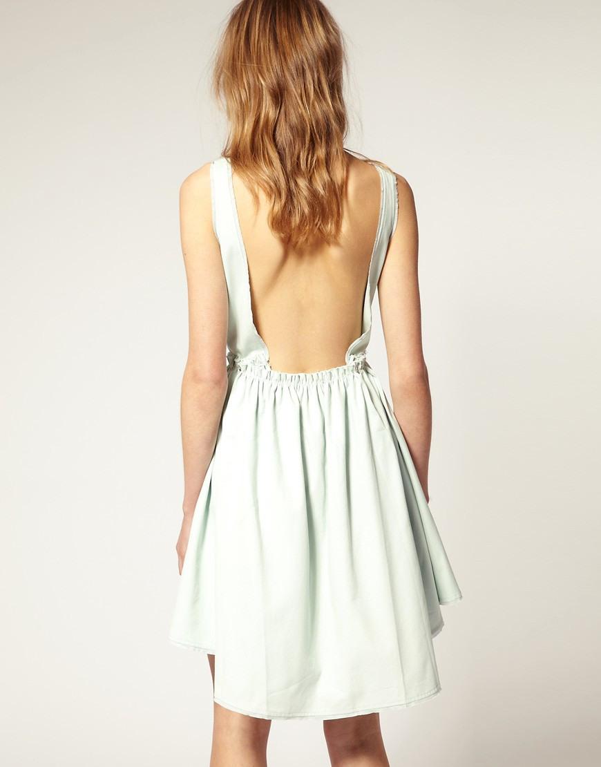 Asos  Asos  Rückenfreies Kleid Mit Ausgestelltem Rock