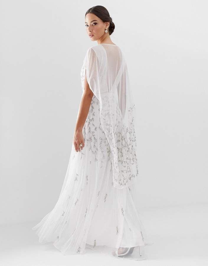 Asos Edition Edition Embellished Cape Wedding Dress