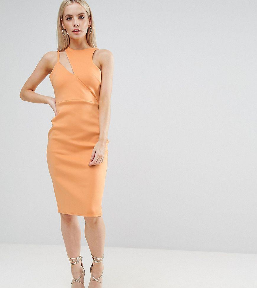 Asos Petite  Asymmetrisches Kleid Aus Neopren Mit