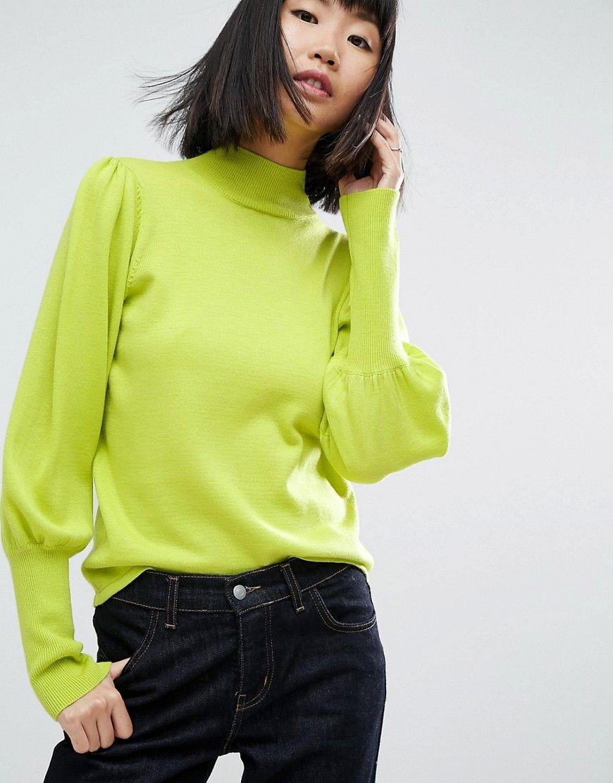 Asos  Pullover Mit Weiten Ärmeln Und Rollkragen  Grün