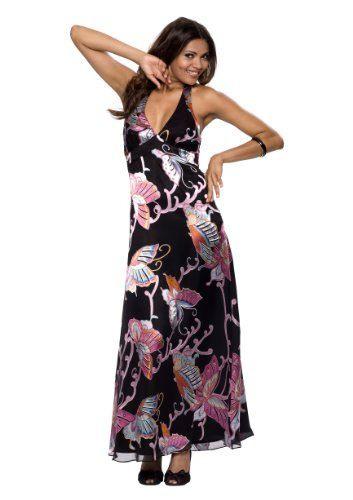 Astrapahl Elegantes Seidenkleid Mit Motiven Lang Farbe
