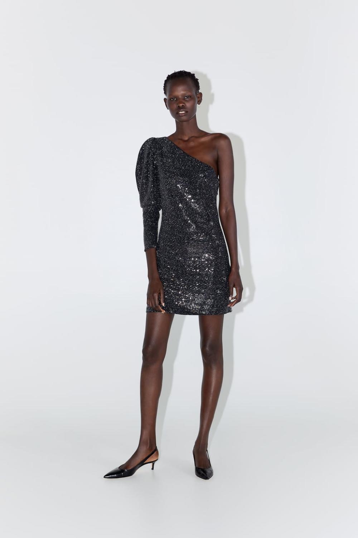 Asymmetric Sequin Dress  View Alldresseswomannew