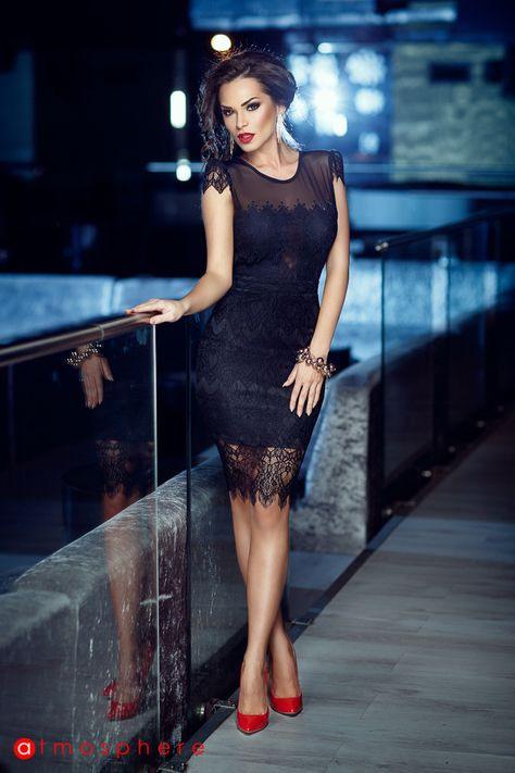 Atmosphere  Dresses Black Short  Sexy Kleider Sexy