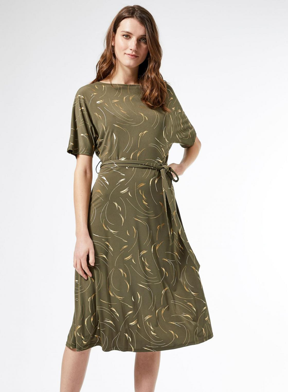 Ausgestellte Kleider  Damen Dorothy Perkins Kakifarbenes