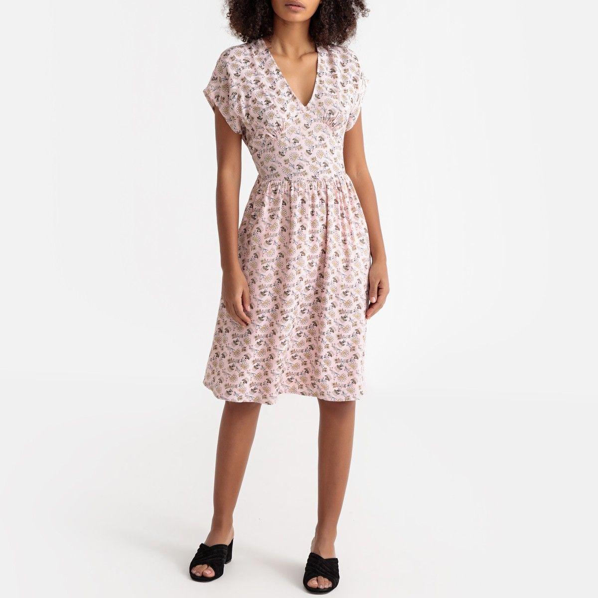 Ausgestelltes Kleid Mit Blumenmuster La Redoute