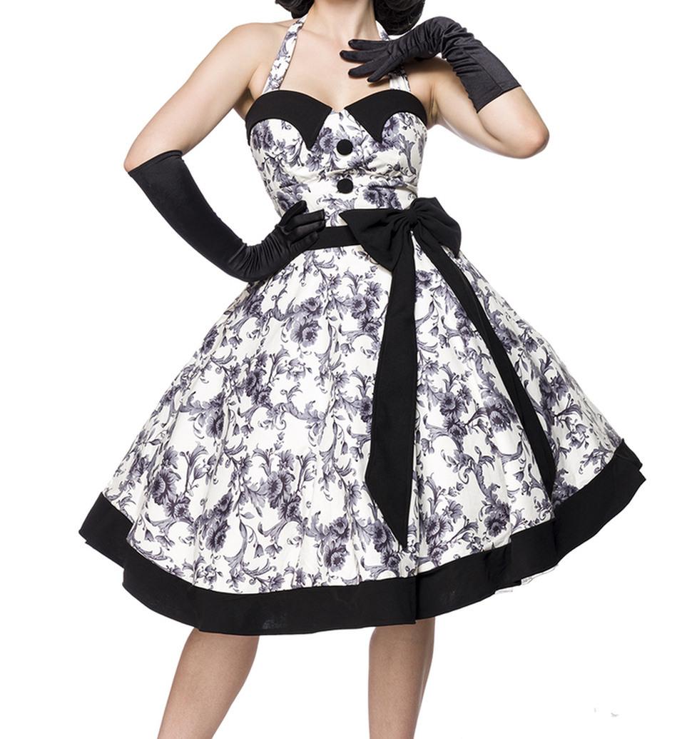Ausgestelltes Rockabilly Kleid Gepunktet Mit Tellerrock