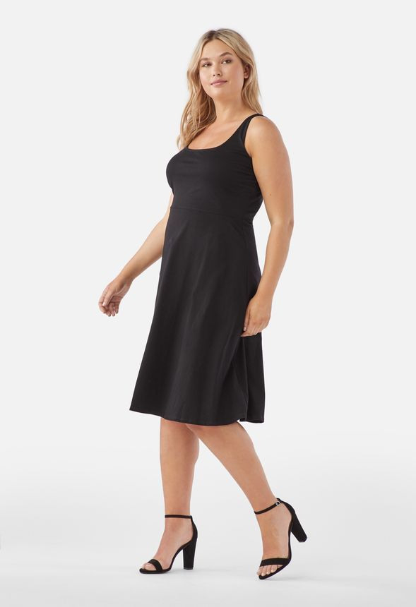 Ausgestelltes Strickkleid In 2020  Kleider Kleid Plus