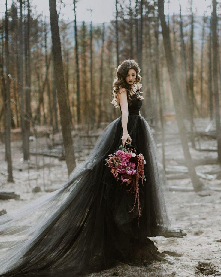 Ausverkauf Schwarze Hochzeitskleid Bereit Zu Versenden