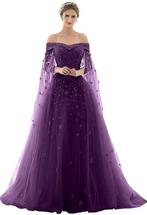 Azna Damen Prinzessin Spitze Abendkleider Ballkleid