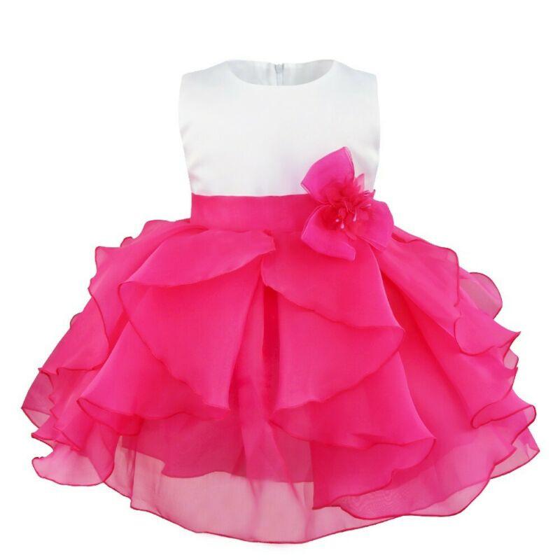 Baby Mädchen Kleid Taufkleid Blumenmädchenkleider Hochzeit