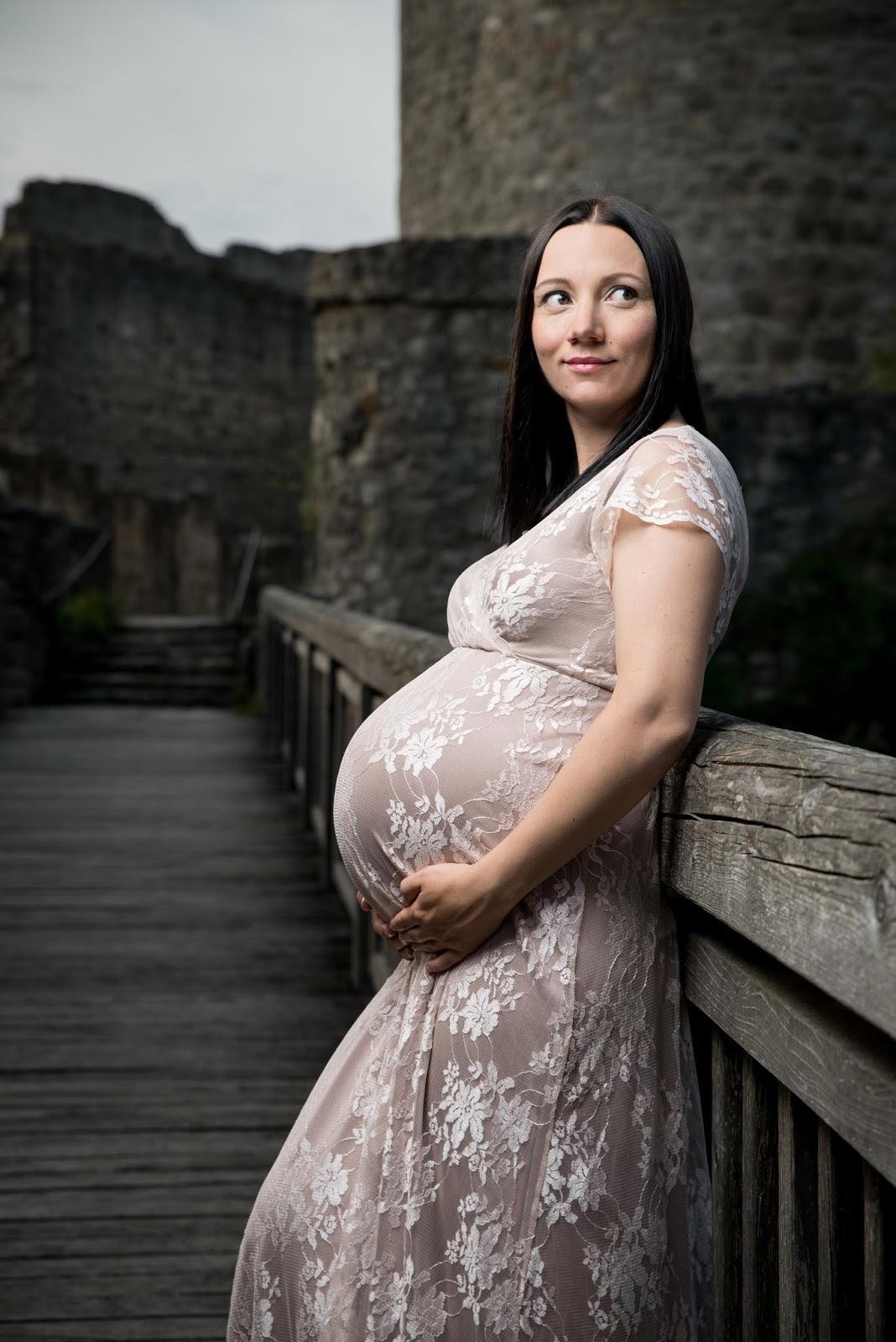 Babybauch Fotoshooting  Maternitykleid Von Mamarella