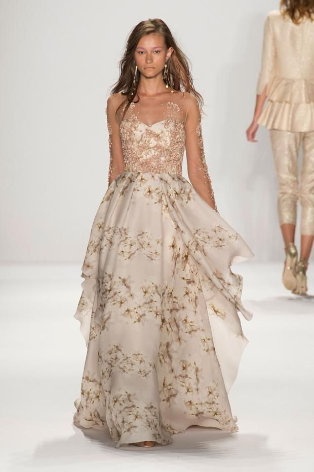 Badgley Mischka S/S '15  Best Gowns Floral Wedding Gown