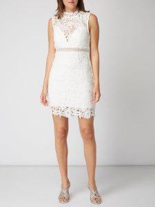 Bardot Kleid Aus Floraler Häkelspitze In Weiß Online