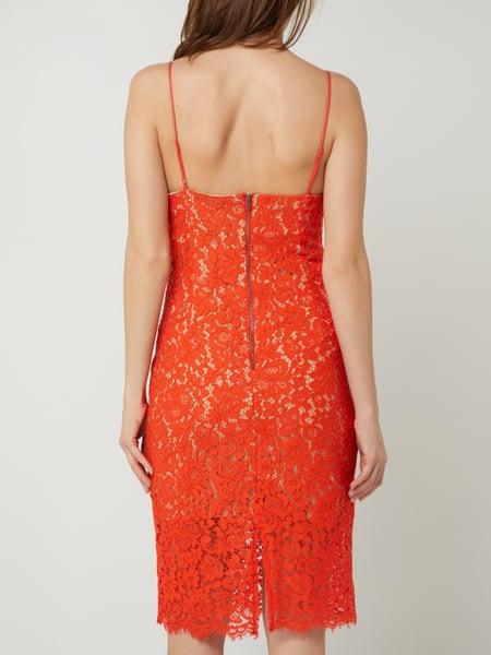 Bardot Kleid Aus Floraler Spitze Modell 'Sienna' In Rot