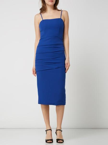 Bardot Kleid Mit Drapierungen Modell 'Brielle' In Blau