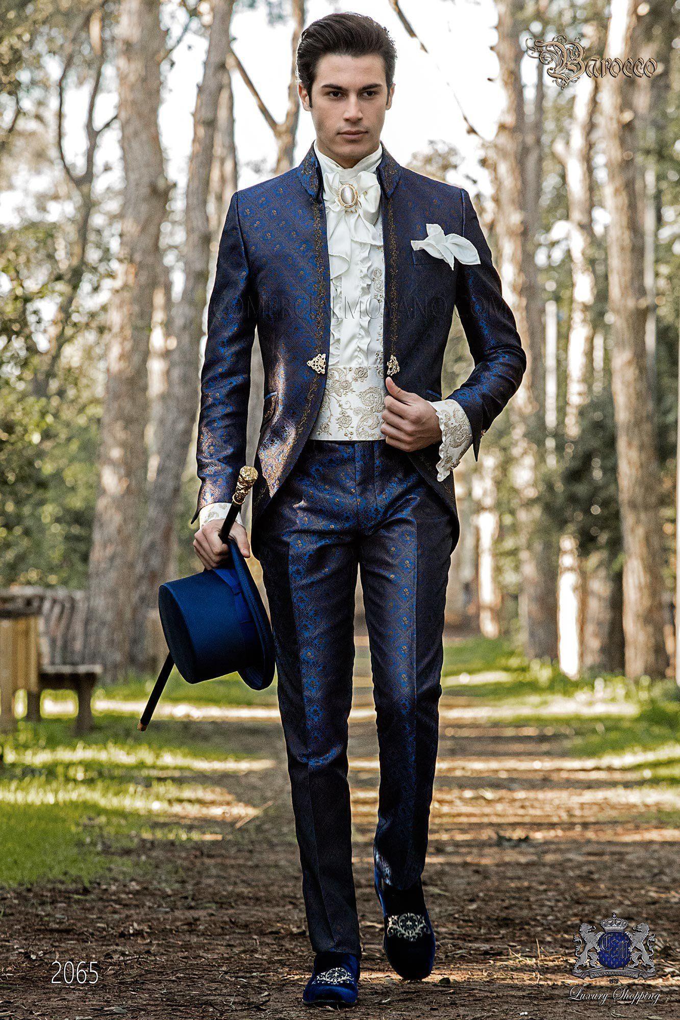 Barocker Bräutigam Anzug Vintage Napoleon Kragen Gehrock