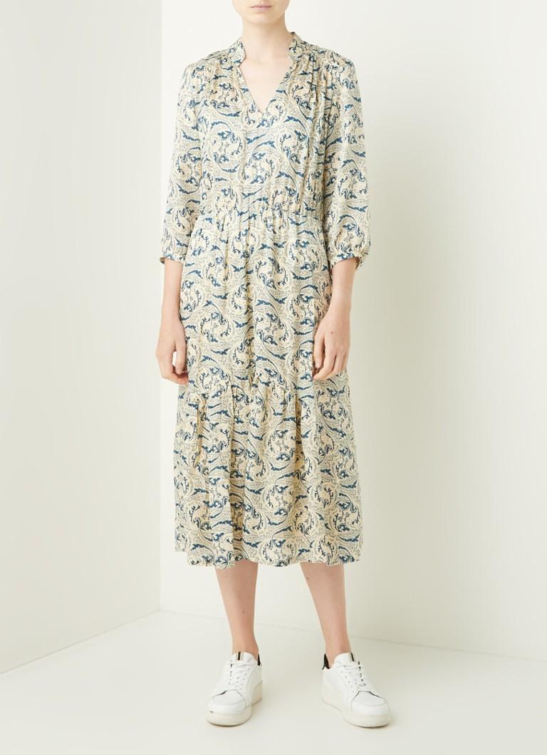 Ba&Sh Midi-Tunika-Kleid Aus Seidenmischung Mit Aufdruck