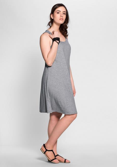 Basic Kleid Grau