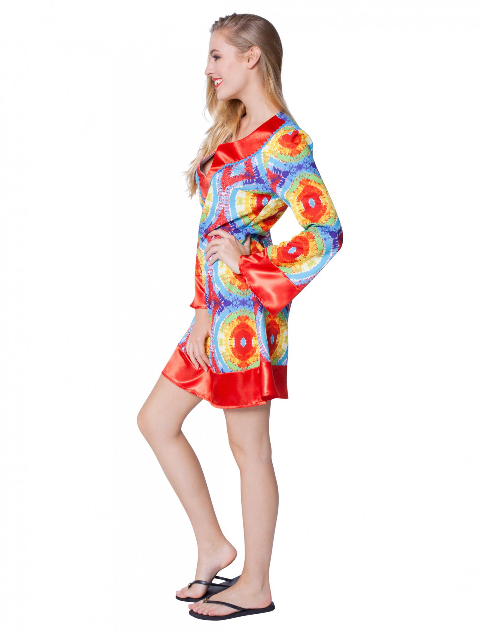 Batik Kleid 70Er Jahre Für Karneval  Fasching Kaufen