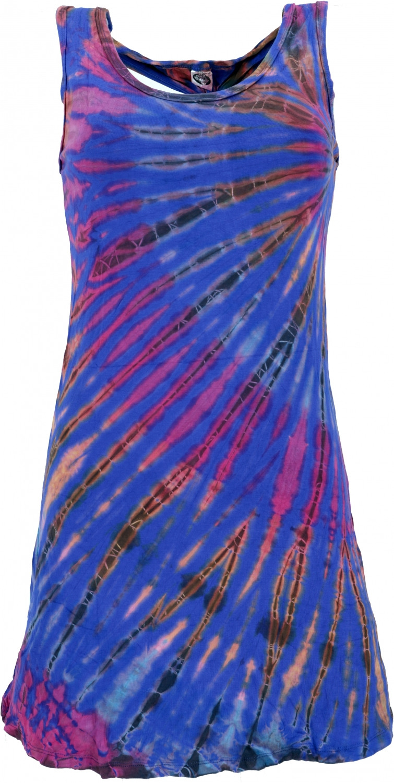 Batik Minikleid Boho Tankkleid  Blau