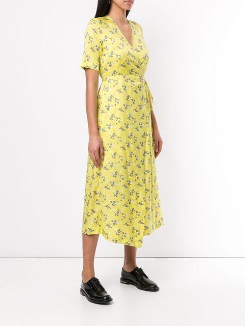 Baum Und Pferdgarten Kleid Mit Blumenprint Damen C3080