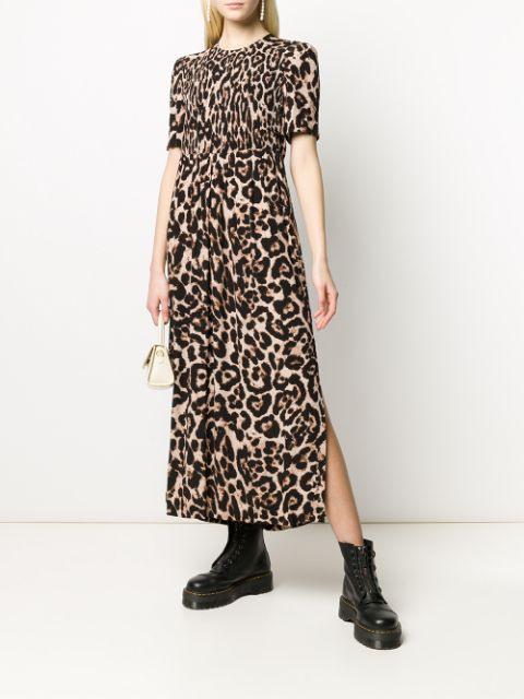 Baum Und Pferdgarten Kleid Mit Leopardenmuster  Farfetch
