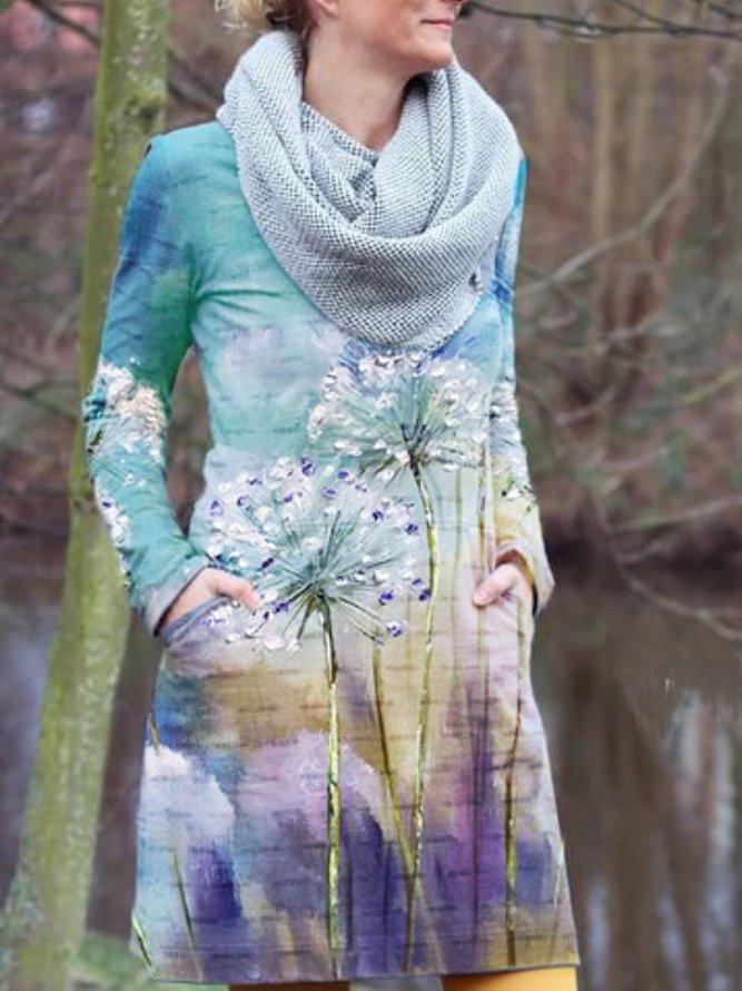 Baumwolle Lässige Kleider  Dresses  Dünne Kisten
