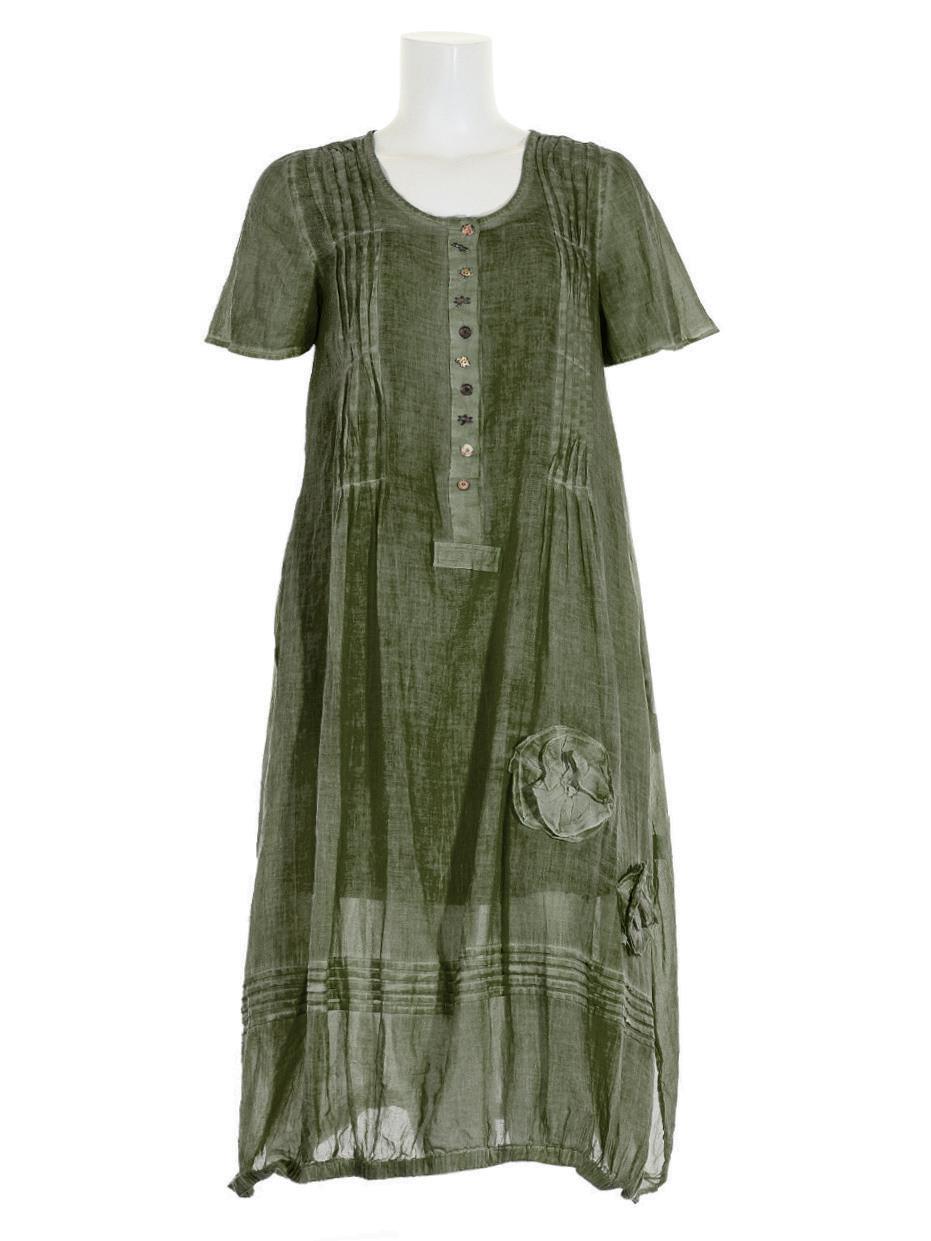 Baumwollkleid Lang 2Tlg Khaki Bei Meinkleidchen Kaufen