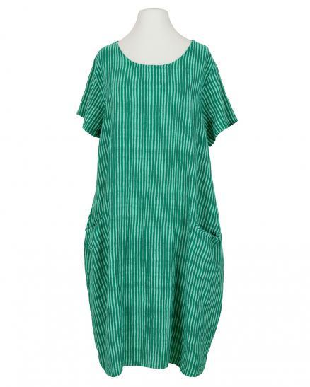 Baumwollkleid Streifen Grün Von Made In Italy  Meinkleidchen