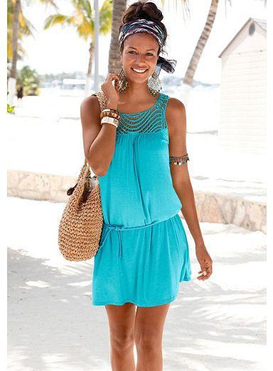 Beachtime Strandkleid Kurze Ärmel Mit Knotendetail Online