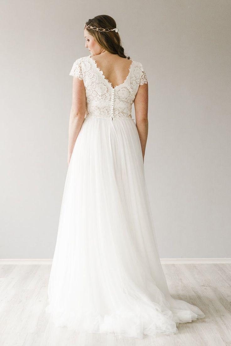Beata Größe 46  Kleider Hochzeit Brautkleid