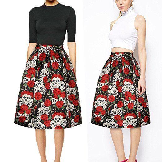 Bekleidung Loveso Rock Sommerkleider Herbst Kleidung Damen