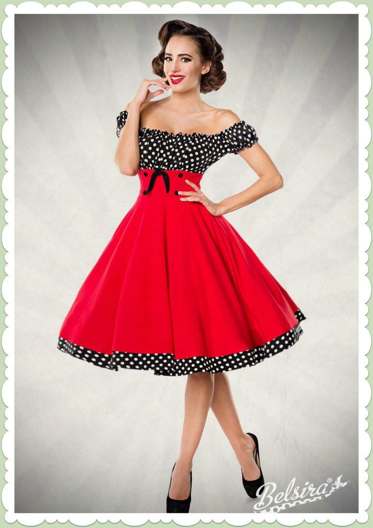 Belsira 50Er Jahre Rockabilly Petticoat Kleid  Claire
