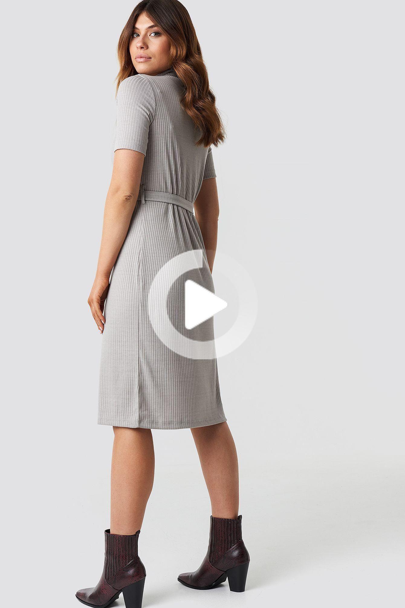 Belted Gebreide Midi Jurken In 2020  Midikleider Outfit