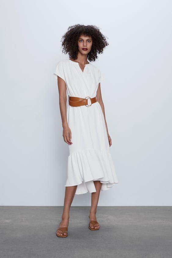 Belted Midi Dress In 2020  Midikleider Kleider Modestil