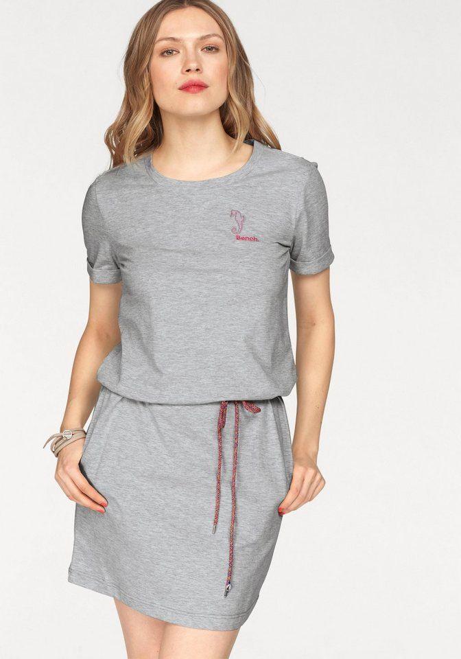 Bench Jerseykleid Mit Einsatz Und Logoschriftzug  Otto