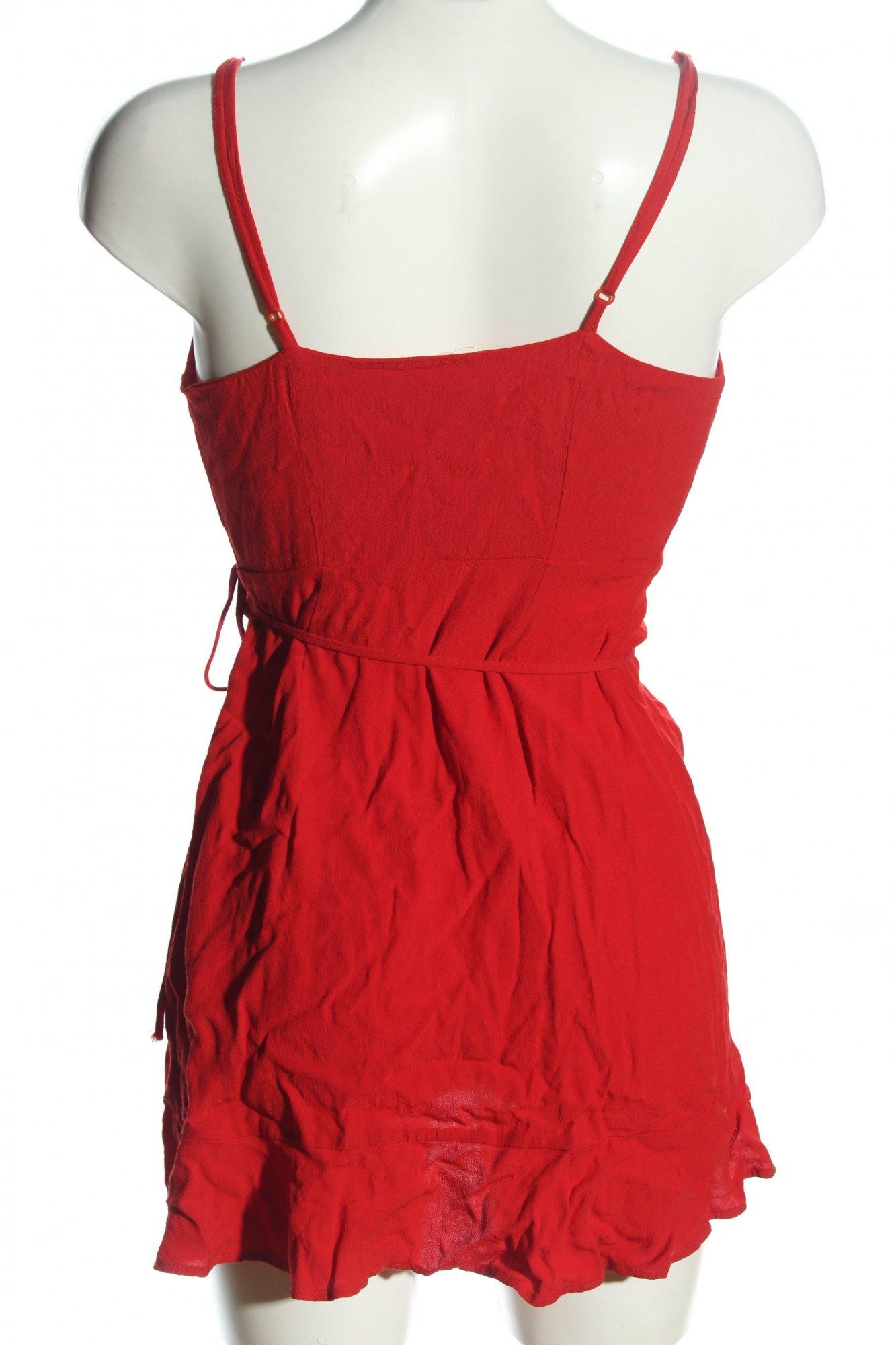 Bershka Wickelkleid Rot Casuallook Damen Gr De 36 Kleid