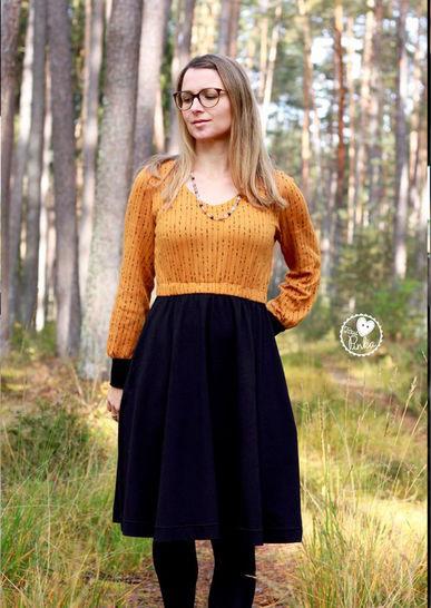 Bertha  Langärmliges Kleid Für Damen Gr 3250
