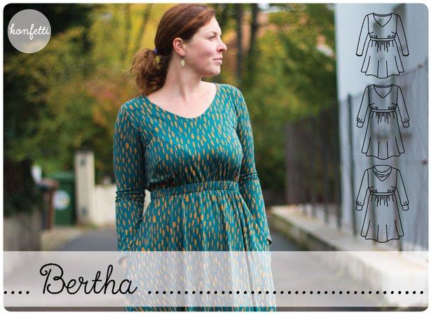 Bertha  Langärmliges Kleid Für Damen Gr3250
