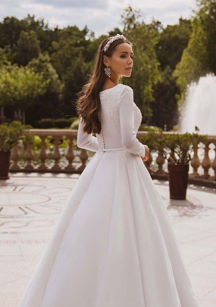 Bescheidene Hochzeit Kleid Einfache Brautkleid Winter